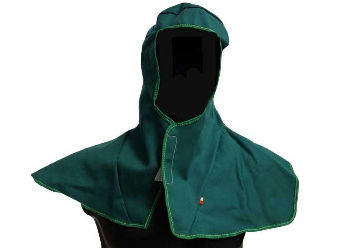 concepita per essere indossata sotto i caschi di saldatura. Chiusura con il velcro.